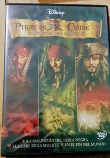 Piratas Del Caribe - Coleccion De 3 Peliculas