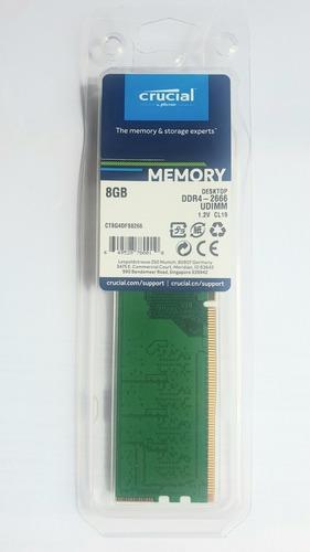 Memoria Ddr4 8 Gb  2666 Crucial