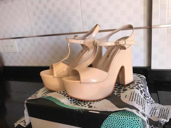 Zapatos De Plataforma Con Taco