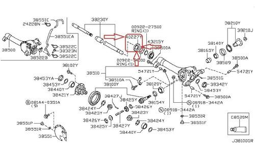 Retentor Diferencial Dianteiro Frontier 2.5 25z38x82x20.5