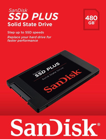 Hd Ssd Sandisk Plus 480gb Sata Revision 2.5 535mbps Original