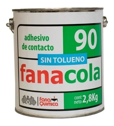 Imagen 1 de 2 de Adhesivo Cemento Pegamento De Contacto Sin Tolueno 2,8 Kg
