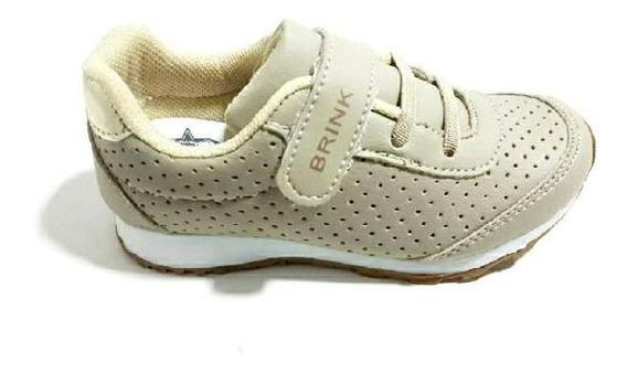 Tenis Infantil Escolar Menina Casual Leve Velcro 195116
