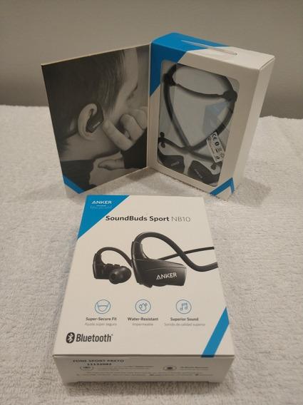 Fone De Ouvido Anker Soundbuds Sport Nb10 Bluetooth Preto
