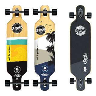 30% Off! Longboard Banga Boards - 100% Maple Canadiense - Profesional - Freeride Downhill Drop - Skateboard Surf Cruiser