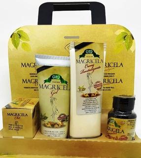 3 Kit Magricela Emagrecedor Chá Gel Creme E Capsula 12 Prod