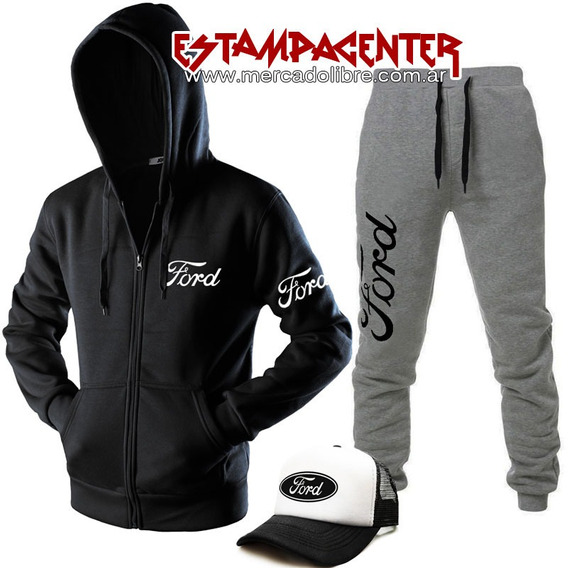 Combo Ford - Campera + Pantalon Joggings + Gorra Trucker