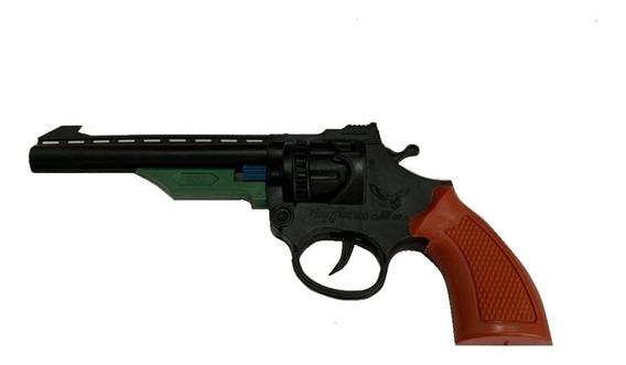 Arma Arminha Pistola Espoleta Infantil Toys Cano Longo