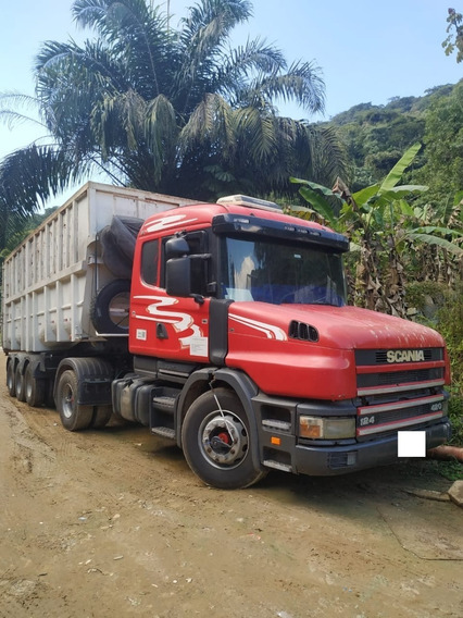 Conjunto Scania T 124 Ga 4x2 Nz 420 2001 + Carreta