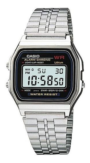 Relógio Casio Vintage Prata A159wa-n1df Original + Nf