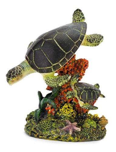 Figura De Acuario Penn Plax Swimming Sea Turtles Medium 325l