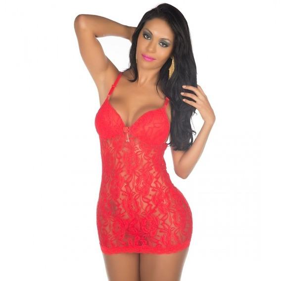 Camisola Sexy Ana Bela Lingerie Vermelho Sensual Pimenta Sex