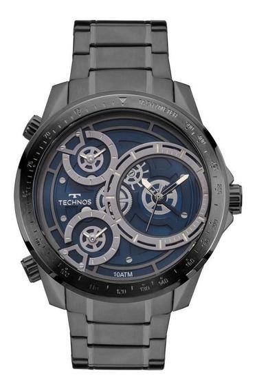 Relógio Technos Masculino Ref: 2035mlb/4a Big Case Black