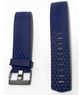 Pulseira Para Fit Bit Charge 2 - Tam L - 22cm Cor Azul