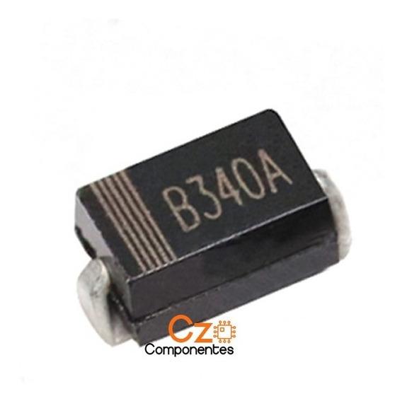 10 Pçs Diodo B340a Sma - 3a 40v - B340 A Smd Smt Schottky