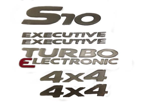 Kit Adesivos S10 Turbo Electronic 4x4 Executive Originais Gm