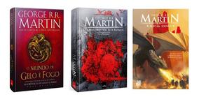 Fogo E Sangue + Mundo De Gelo E Fogo+cavaleiro Dos 7 Reinos