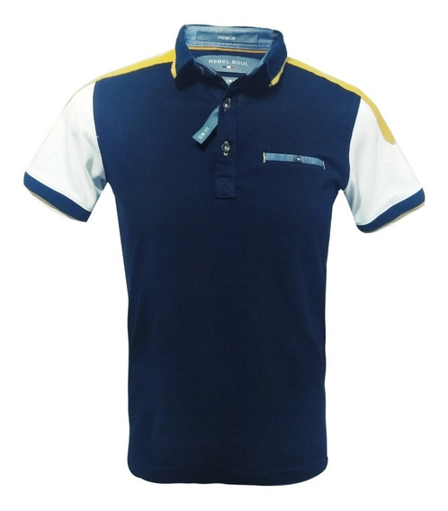 Playera Polo Para Caballero Corte Slim Fit Moda Casual