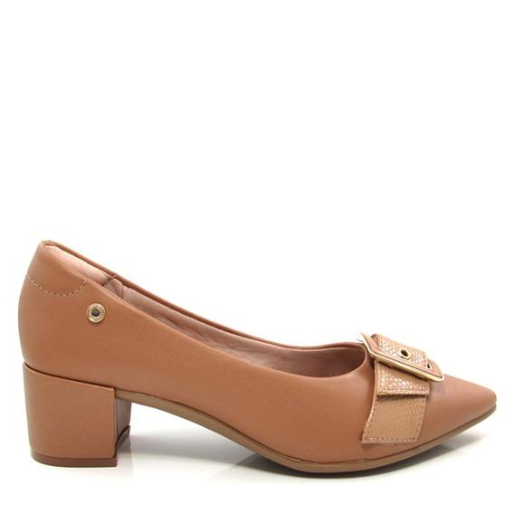 Scarpin Bico Fino Feminino Salto Grosso Olfer Shoes 1238-020