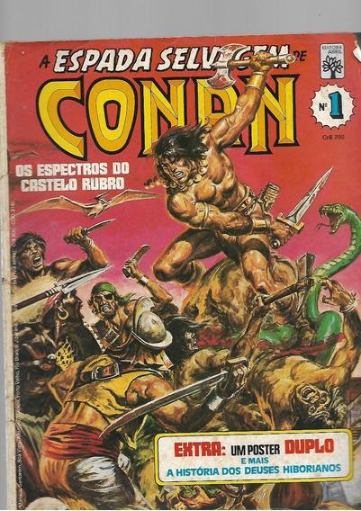 A Espada Selvagem De Conan 1,2,3,4,5! 1ª Série! Abril