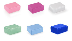 20 Caixa Retangular Colorida Plástico Kit Pintura Guloseimas