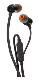 Fone De Ouvido Intra Auricular Jbl T110 Preto Com Microfone