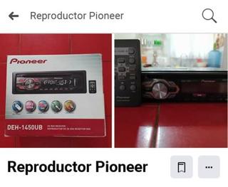 Vendo Reproductor Pioneer Modelo Deh1450-ub