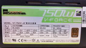 Fonte Seventeam Modular 750w Reais St-750z-af 80plus Top