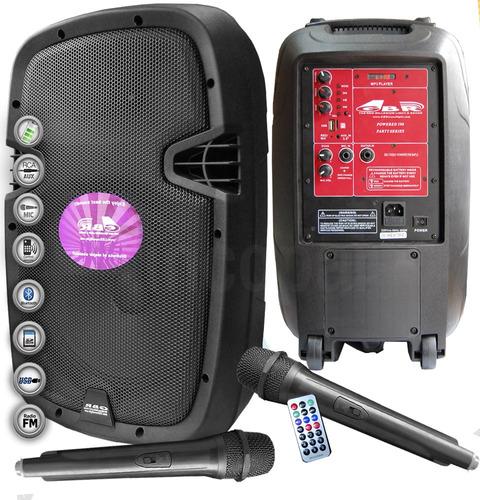 Bafle Potenciado Gbr Bateria Rec.-usb-bluetooth-mic