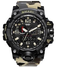 Relógio Militar Shock Esportivo Digital Militar Smael 1545