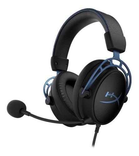 Imagen 1 de 4 de Audífonos gamer HyperX Cloud Alpha S blue