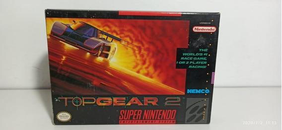 Top Gear2 Super Nintendo Original Cib Na Caixa Novo American