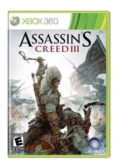 Jogo Assassins Creed 3 Iii Xbox 360 E Xbox One Lacrado Novo