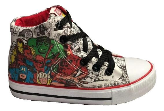 Zapatillas Botitas Marvel Avenger Comic Fty Calzados