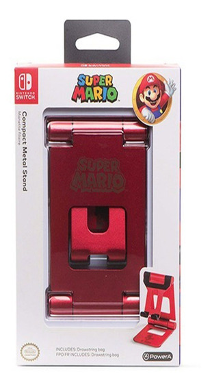 Nintendo Swith Accesorios Base Metalica Roja Super Mario