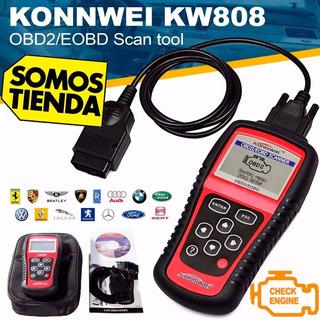 Konnwei Kw808 Obd2 Escáner Vehiculo Lector De Código Obdii