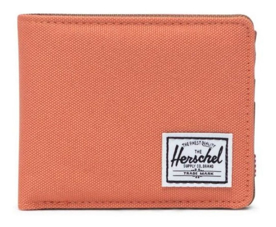 Billetera Herschel Roy apricot brandy y saddle brown poliéster 600d