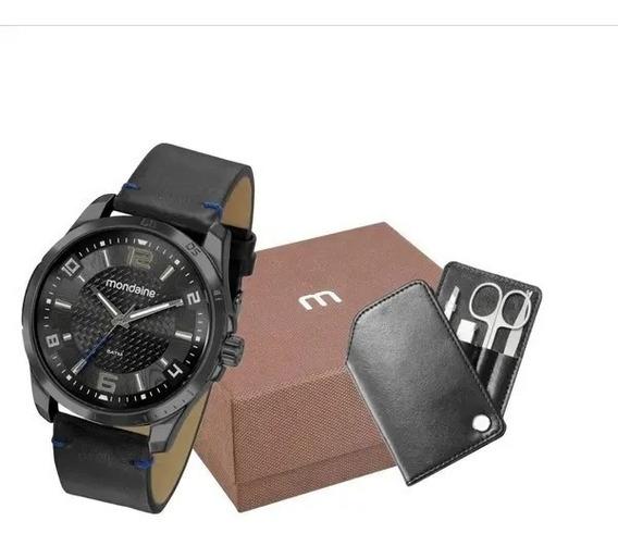 Kit Relógio Mondaine Masculino Relógio Mais Estojo