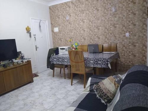 Apartamento Térreo, Com 2 Dormitórios , 1 Wc  Vaga Demarcada, À Venda, 66 M² Por R$ 320.000 - Marapé - Santos/sp - Ap10541