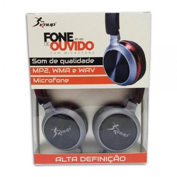 Fone De Ouvido Com Microfone Kp-423 Knup