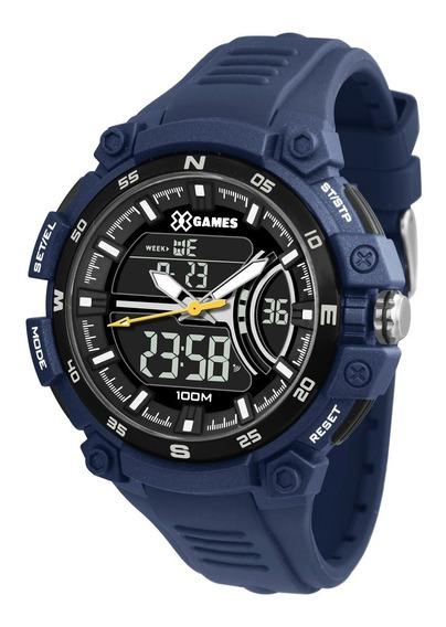 Relógio X-games Masculino Anadigi Xmppa255 Pxdx Azul