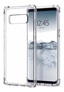 Capa Crystal Shell Samsung Note 8 6.3 + Pel Gel Curvada