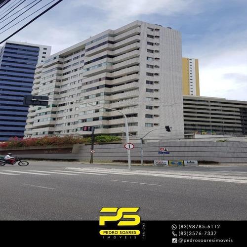 Apartamento Com 3 Dormitórios À Venda, 176 M² Por R$ 500.000 - Miramar - João Pessoa/pb - Ap3395