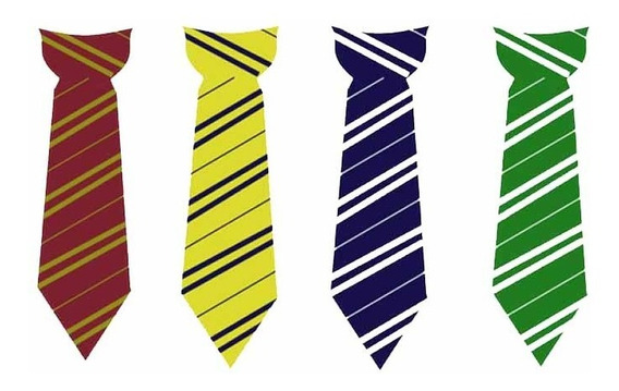 10 Corbatas Harry Potter Griffindor Hufflepuff Ravenclaw
