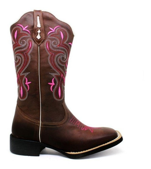 Bota Texana Country Rosa Lançamento