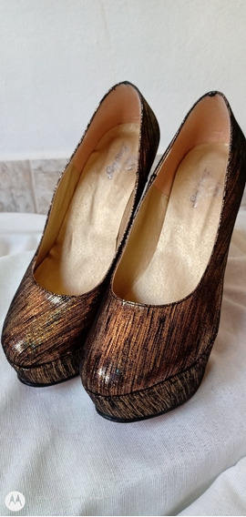 Stilettos Zapatos Mujer Plataforma Taco Fino Alto Fiesta