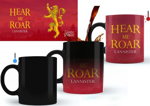 Taza Magica Casa Lannister Juego De Tronos 11oz