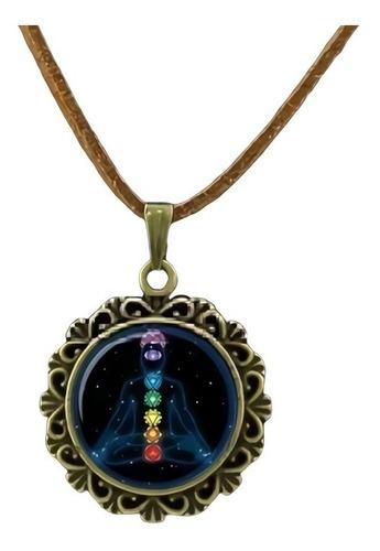 Collar Chakras Yoga Meditación Energía Sanación Hombre Mujer
