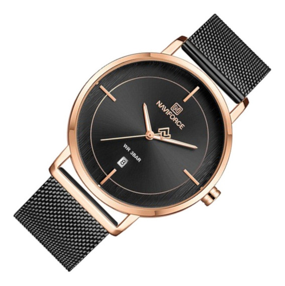 Relógio Feminino Naviforce 3009 Preto