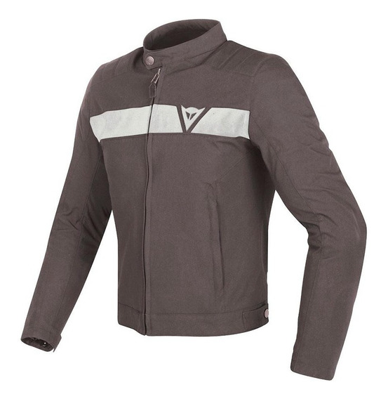 Campera Touring Dainese Stripes Tex Marr/blan